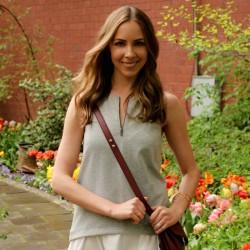 Tibi Italian Ponte Dress | Loeffler Randall Rider Bag | Gorjana Teagan Cuff | Gorjana Elea Ring