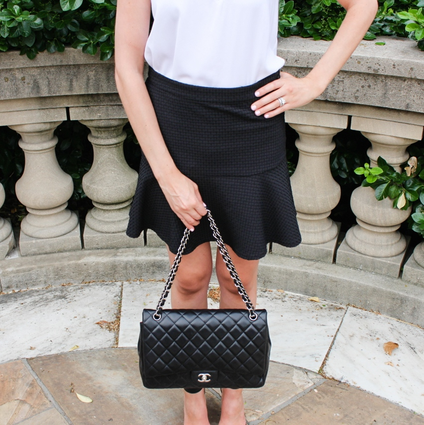 Comptoir des Cottonniers Pleated Skirt Helmut Lang Nexa Top Chanel Bag