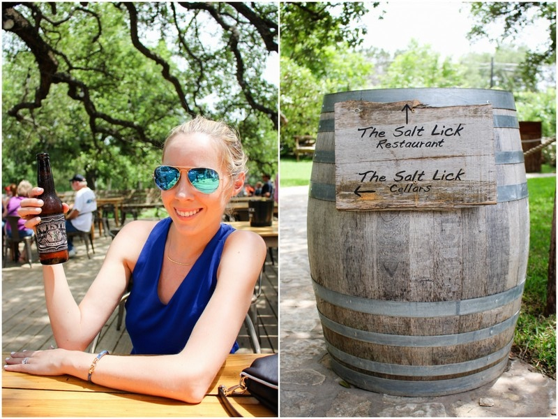 Banana Republic Cross Back Tank Ray Ban Blue Gold Mirrored Sunglasses The Salt Lick Texas