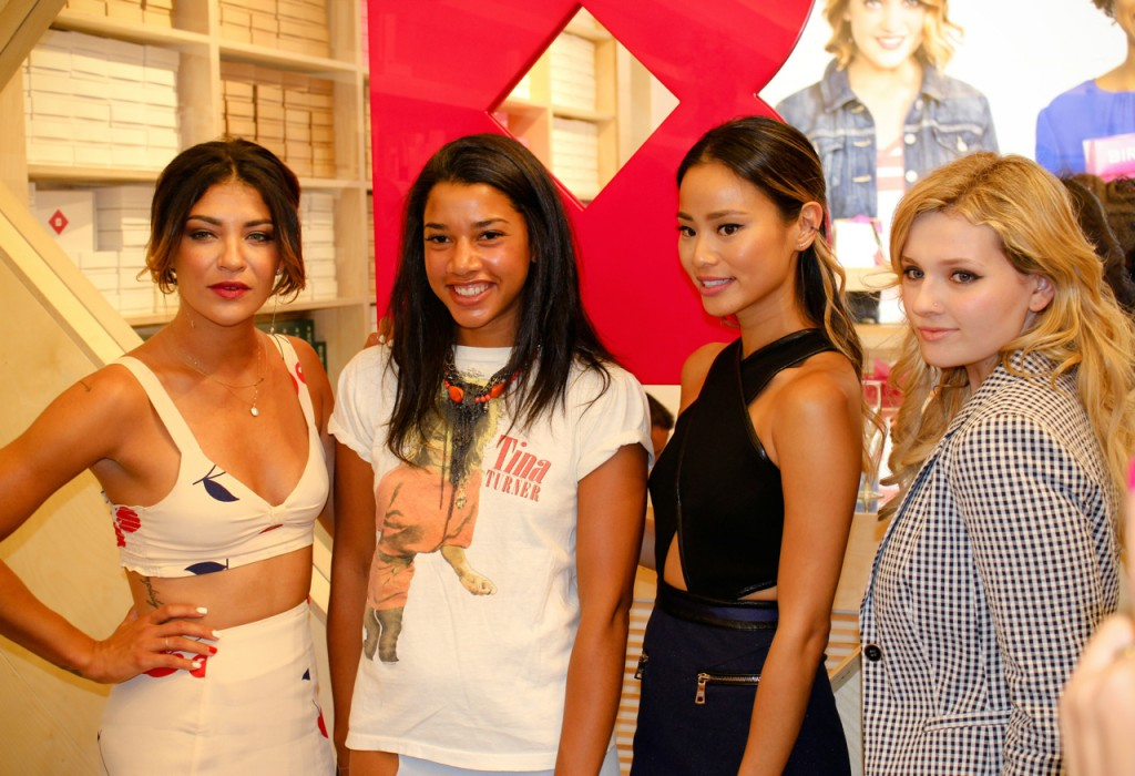Jessica Szohr Hanna Bronfman Jamie Chung and Abigail Breslin at the Birchbox Soho Store Opening 433 West Broadway NYC