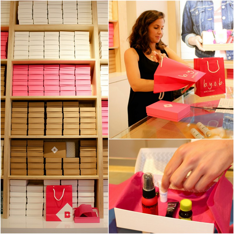 BYOB Build Your Own Birchbox - Birchbox Soho Store Opening 433 West Broadway NYC