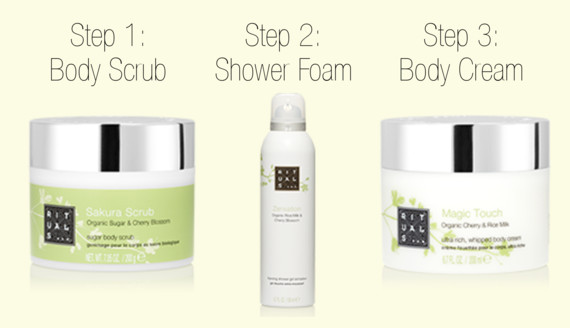 Rituals Cosmetics | Sakura Scrub | Zensation Foaming Shower Gel | Magic Touch Whipped Body Cream