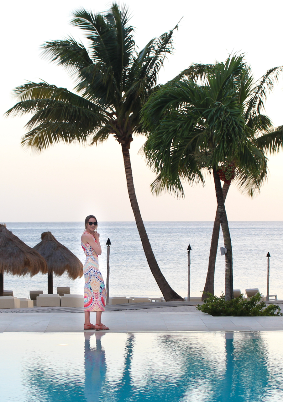 Mara Hoffman Ponte Cutout Printed Dress - Bloomingdale's Exclusive | Illesteva Palm Beach Sand Sunglasses