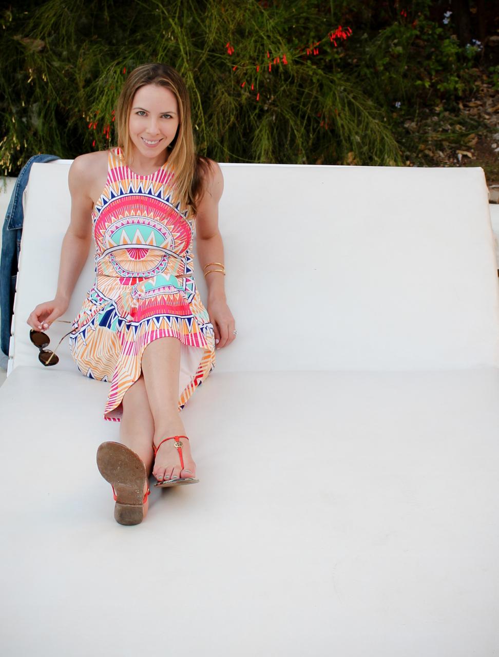 Mara Hoffman Ponte Cutout Printed Dress - Bloomingdale's Exclusive
