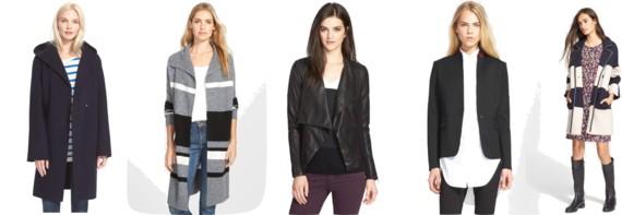 #NSALE Nordstrom Anniversary Sale   Vince Hooded Coat // Caslon Sweater Coat // Trouvé Drape Collar Leather Jacket // rag & bone Archer Blazer // Tory Burch Colorblock Merino Wool Coat