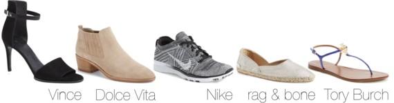 #NSALE Nordstrom Anniversary Sale | Vince Adley Sandal // Dolce Vita Kadie Bootie // Nike Free Flyknit 5.0 TR' // rag & bone Georgie Espadrille // Tory Burch Melinda Sandal