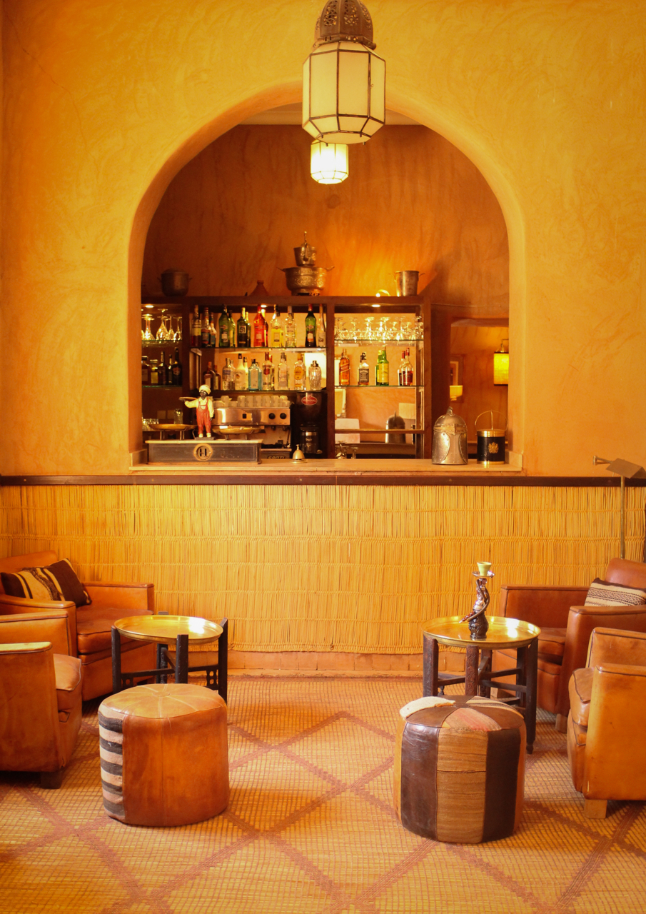The bar at Kasbah Bab Ourika, Morocco | Maroc | Luxury Travel |Atlas Mountains | Ourika Valley