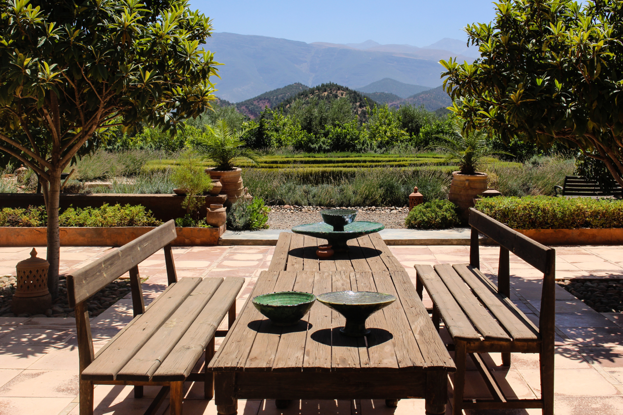 Dining Terrace at Kasbah Bab Ourika, Morocco | Maroc | Luxury Travel |Atlas Mountains | Ourika Valley