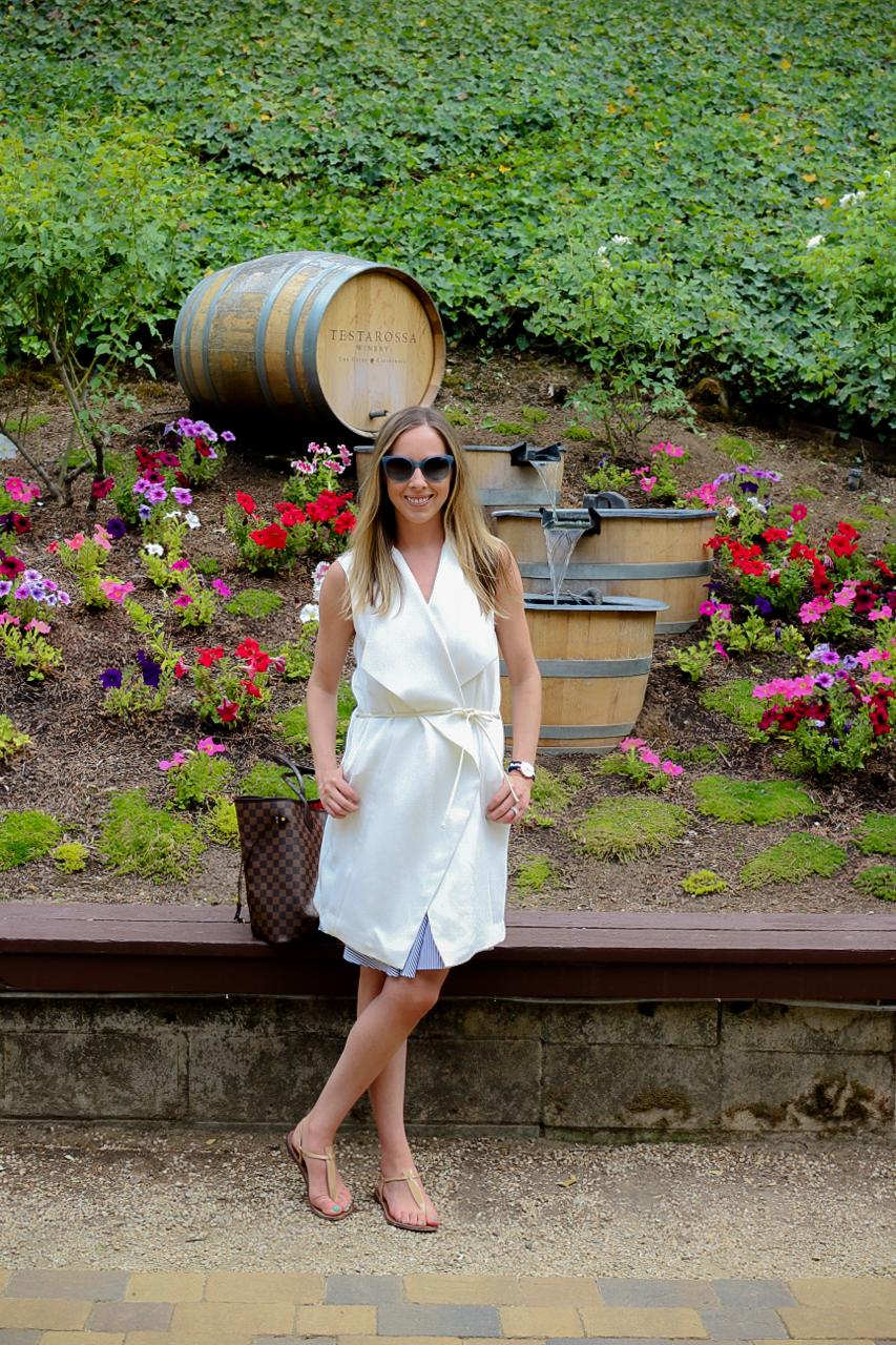 Tibi Stripe Cami Dress   Vince Long Crepe Dress