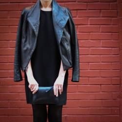 Vince Leather Scube Jacket | IRO Anna Dress Open Back Mini Dress LBD