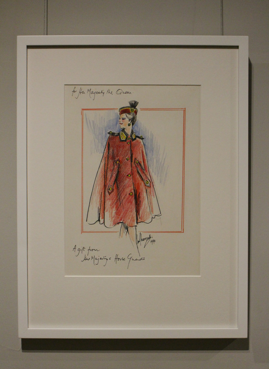Sketch from the Fashion Rules Exhibition at Kensington Palace