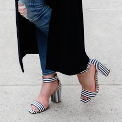 J. Crew Striped Strappy Sandals