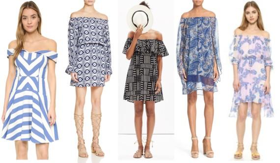 Spring/Summer 2016 Hottest Trend: Off the Shoulder Dresses and Tops