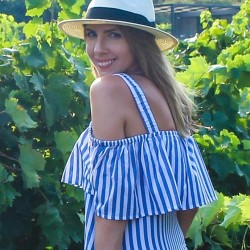 Whit Two Rehoboth Open Shoulder Stripe Mini Dress | Biltmore x Madewell Panama Hat | Firriato Winery, Sicily