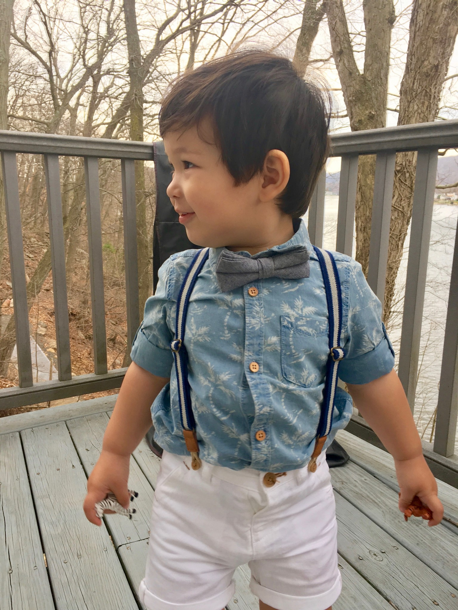 Zara Kids Denim Shirt with Palm Trees 1