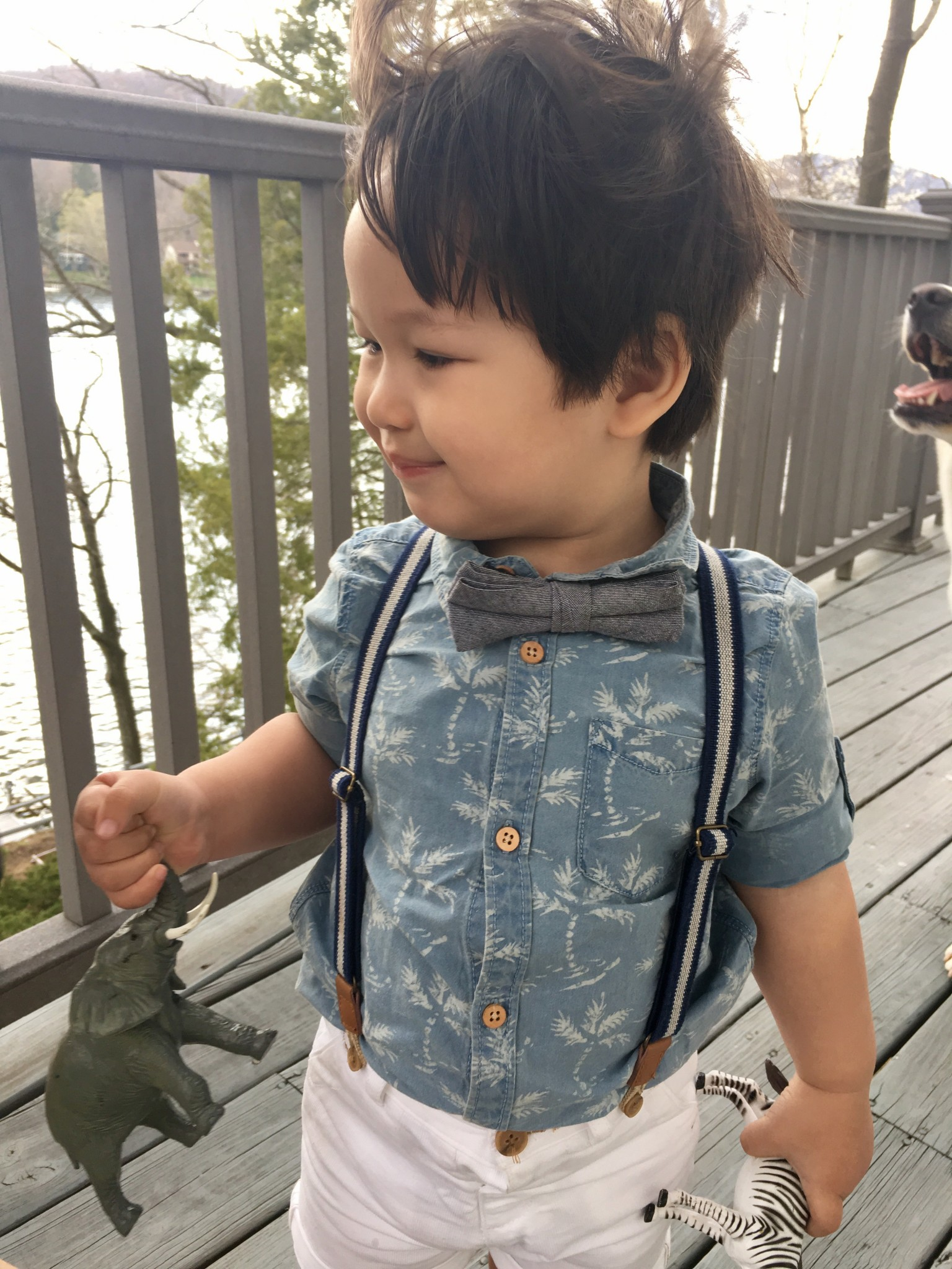 Zara Kids Denim Shirt with Palm Trees