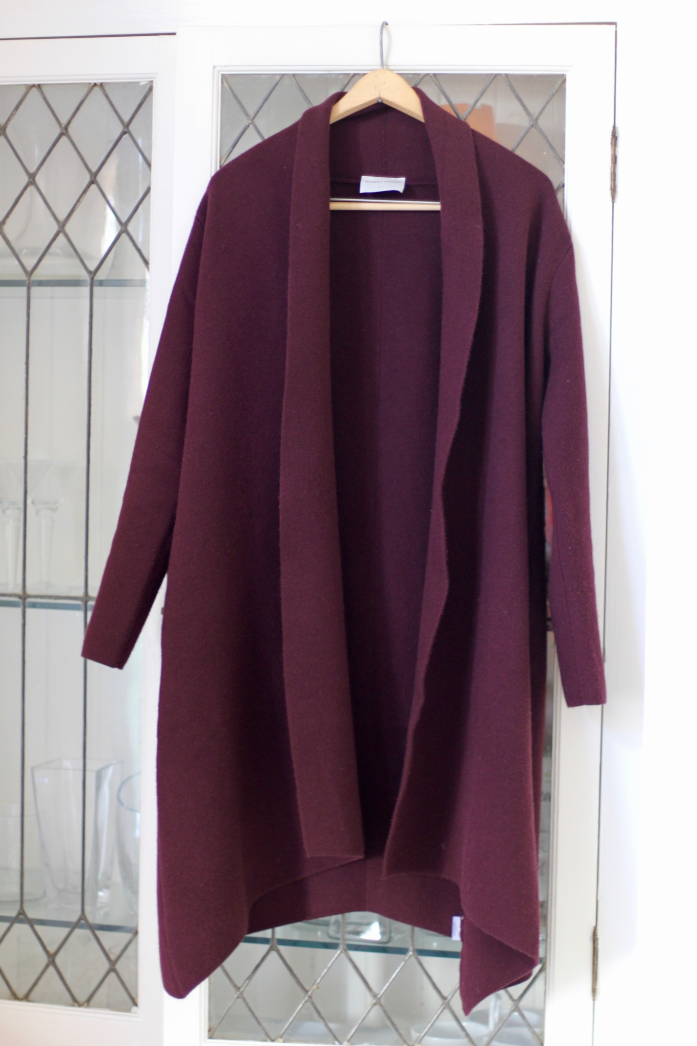 Modern Citizen Marjorie Sweater Coat in Plum
