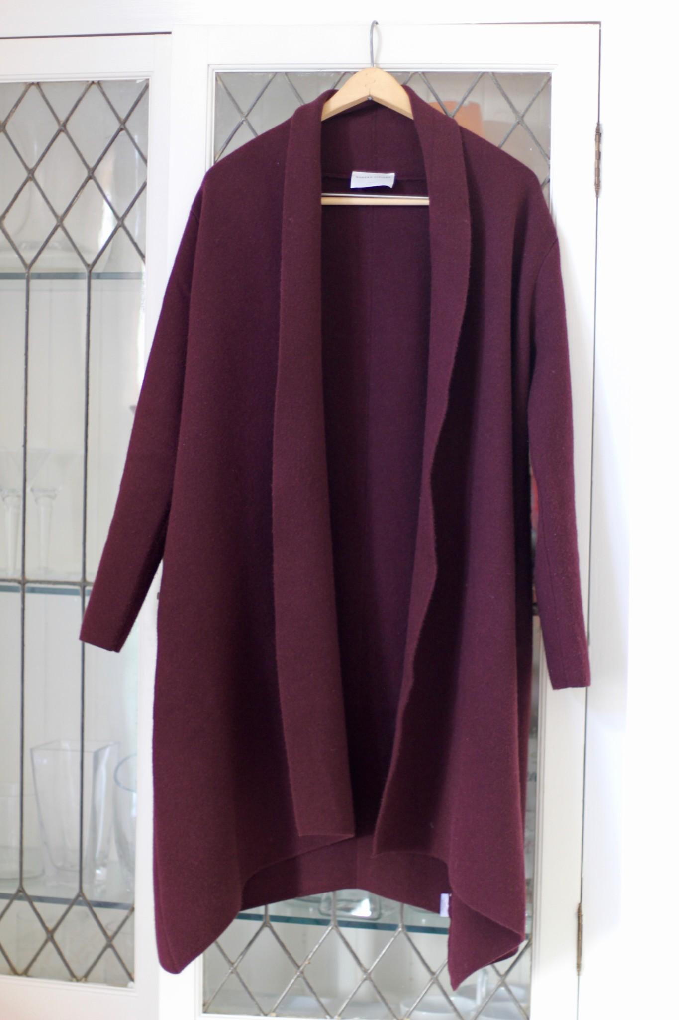 Modern Citizen Marjorie Sweater Coat in Plum