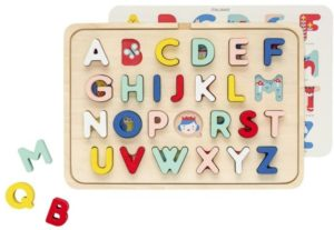 Sprout San Francisco Multi-Language Alphabet Wooden Tray Puzzle